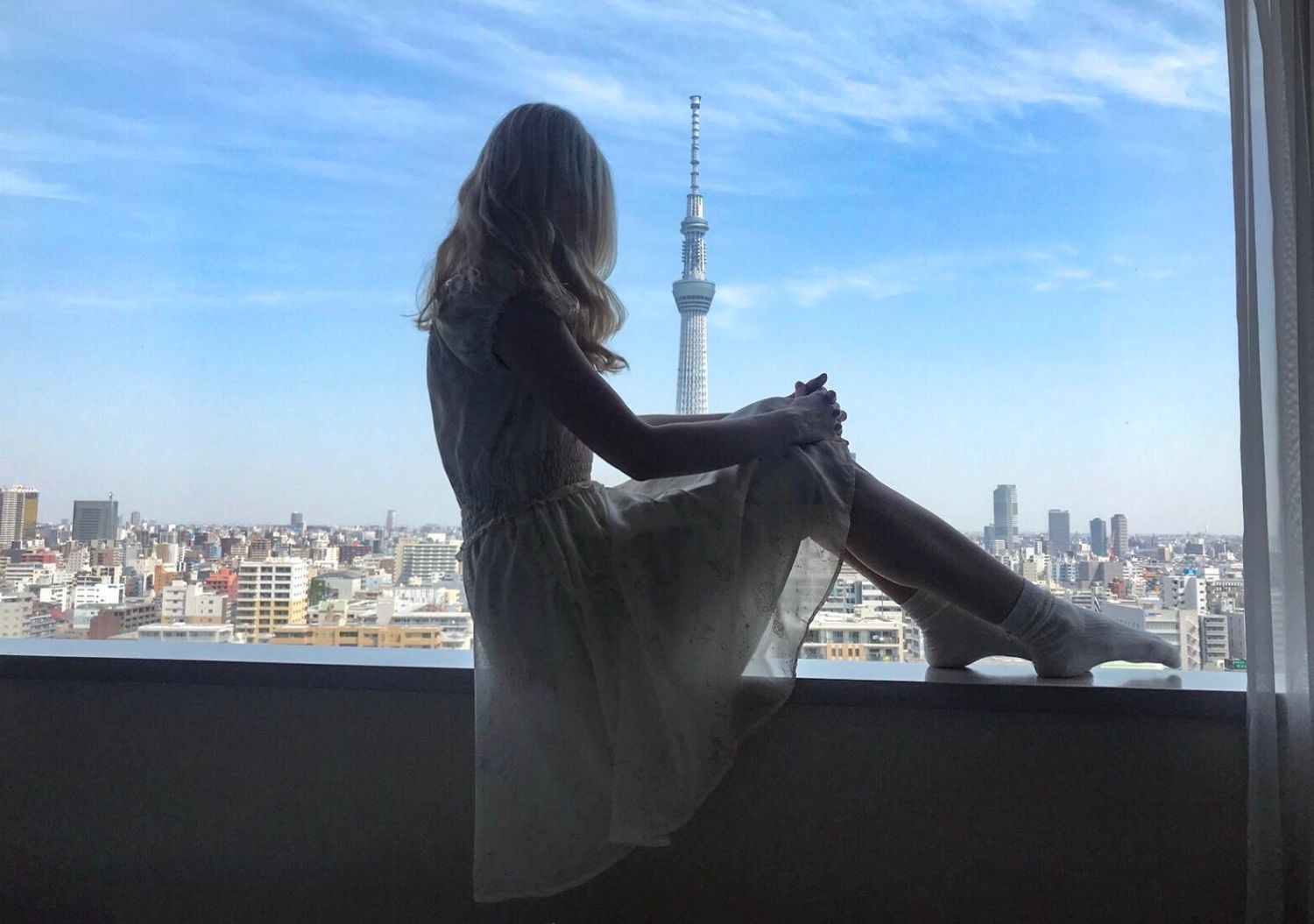 Maria. W tle Tokyo Tower (fot. archiwum prywatne)