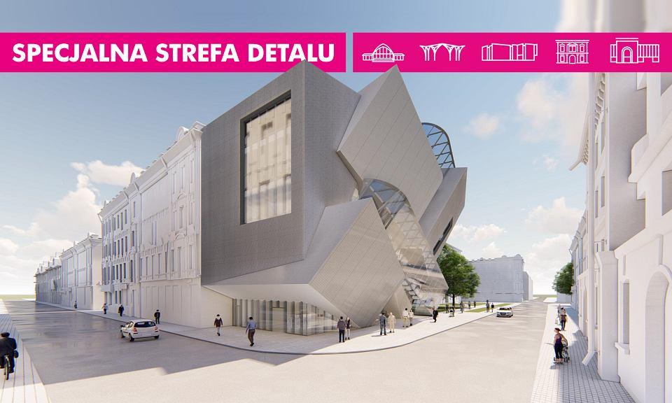 Wizualizacja budynku Daniela Libeskinda przedstawią nowy wygląd buduynku, ale jeszcze w starej lokalizacji.
