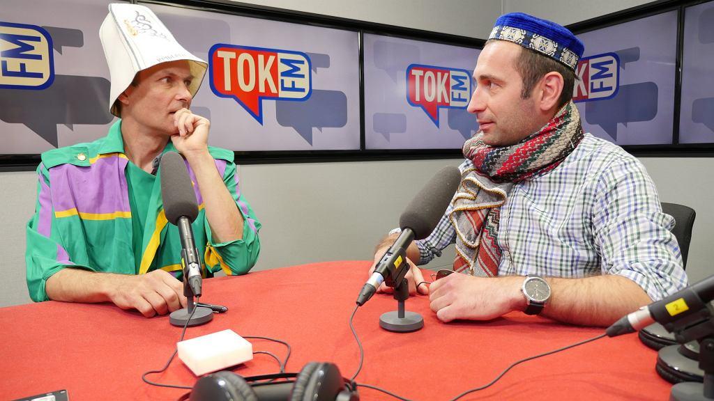 Od lewej: Paweł Sulik i Adam Balcer, autorzy podcastu Tokfm.pl 'Lechistan - alternatywna historia Polski'