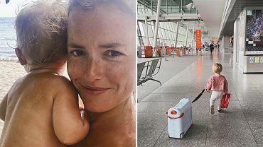 Olga Frycz podróżuje z córką