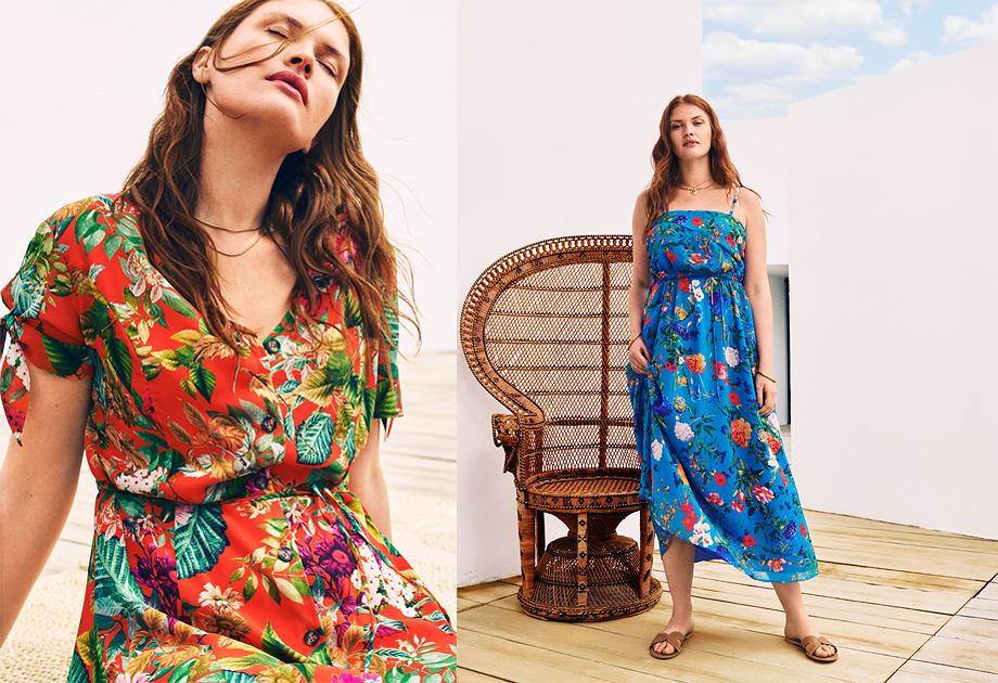 Mango - kolekcja Violeta plus size / Sukienki w kwiaty