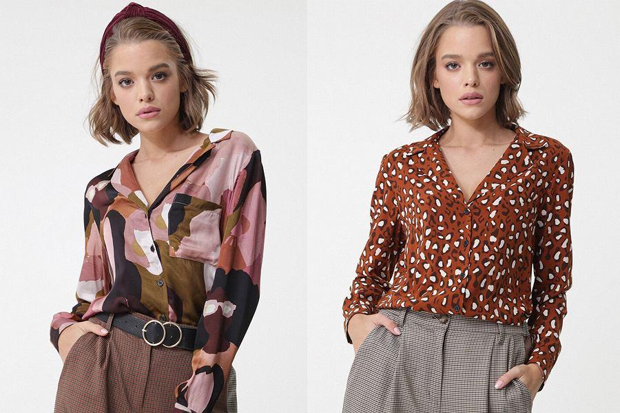 Wzorzyste bluzki damskie