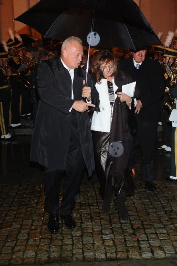 PHOTO: MICHAL WARGIN / EAST NEWS 22/09/2012 WARSZAWA SLUB ALEKSANDRY KWASNIEWSKIEJ I KUBY BADACHA W KATEDRZE POLOWEJ WOJSKA POLSKIEGO N/Z: