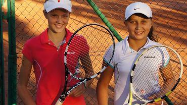 Tenisistki GKT Nafta: Martyna Kubka (po lewej), Klaudia Wybudowska