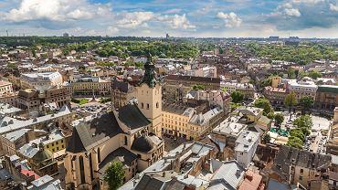 Lwów, widok na katedrę i Stare Miasto