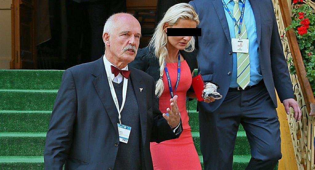 Janusz Korwin-Mikke z córką Korynną (zdj. z 2014 roku)
