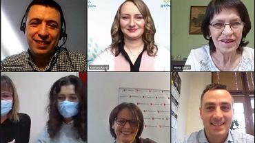 W debacie uczestniczyli: Paweł Malinowski, Katarzyna Kazojć, Wanda Szuster, Natalia Wegner i Magdalena Kiner, Kinga Konieczny (moderator) oraz Krzysztof Barczyk