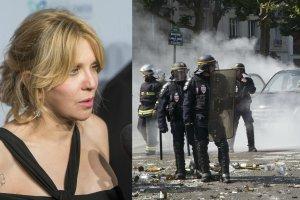 Courtney Love i zamieszki w Paryżu