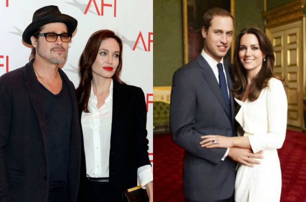 Brad Pitt i Angelina Jolie, książę William i księżna Kate