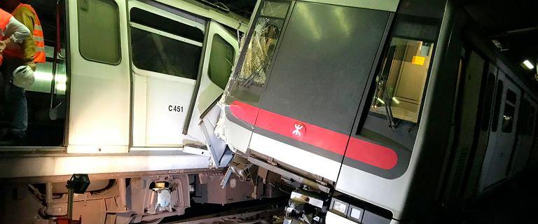 Hongkong. Zderzenie pociągów metra podczas testów nowego systemu