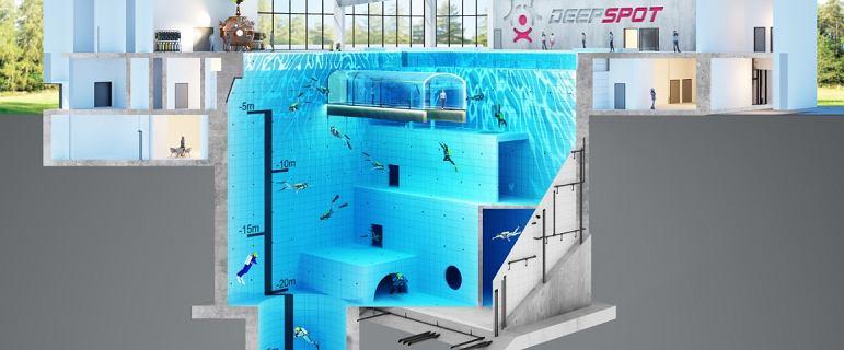 W Polsce powstaje najgłębszy basen na świecie. Deepspot już jesienią