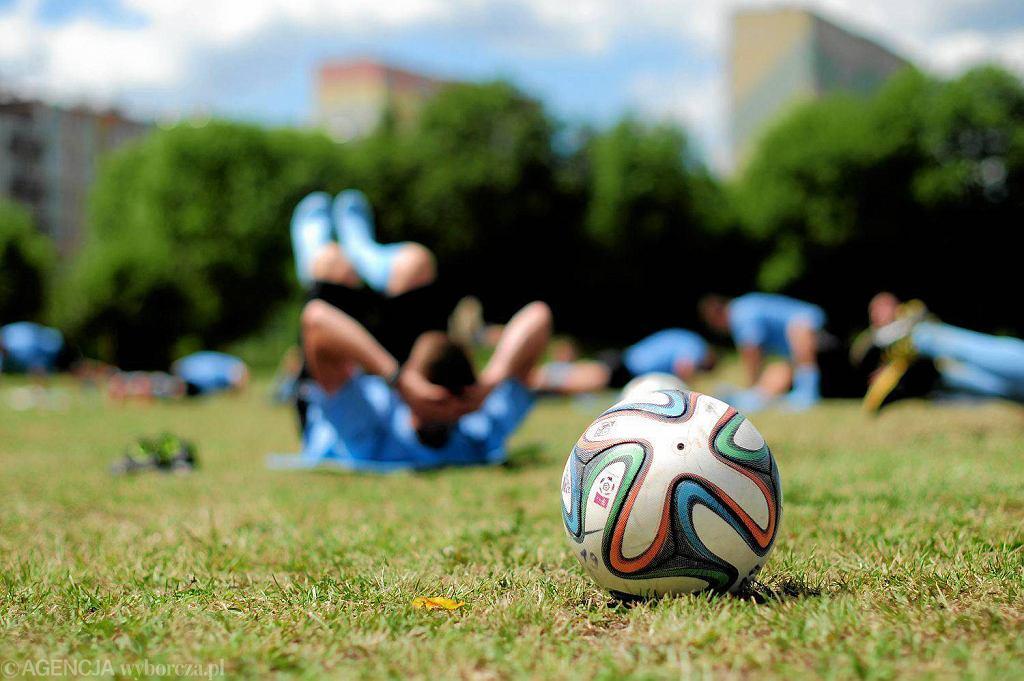 Trening piłkarzy Stomilu Olsztyn