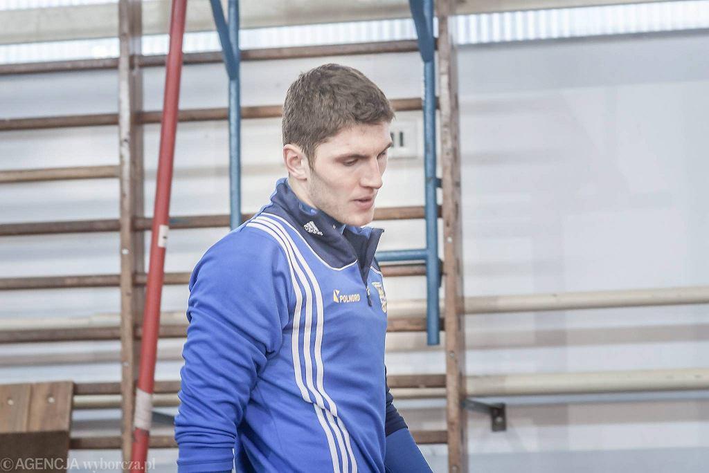Trening Arki Gdynia. Piotr Karłowicz