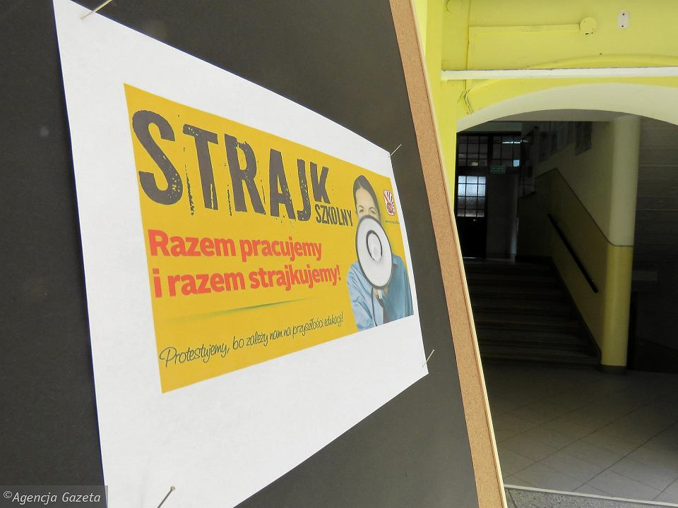Strajk nauczycieli w gorzowskim II LO