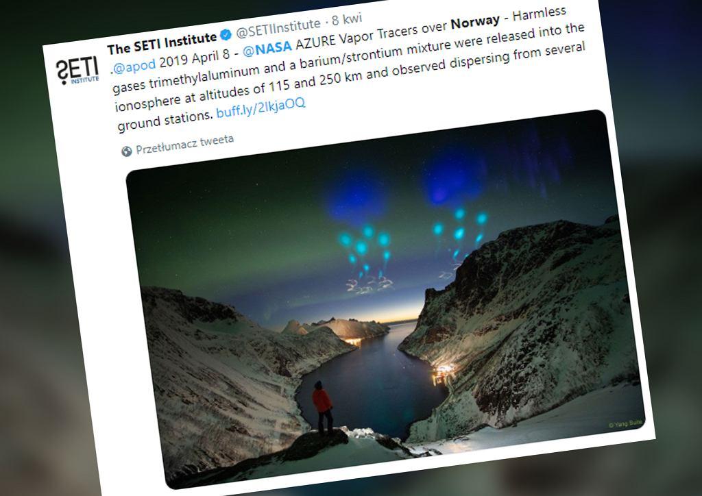 Niezwykłe zjawisko na norweskim niebie. NASA wyjaśnia, co to takiego