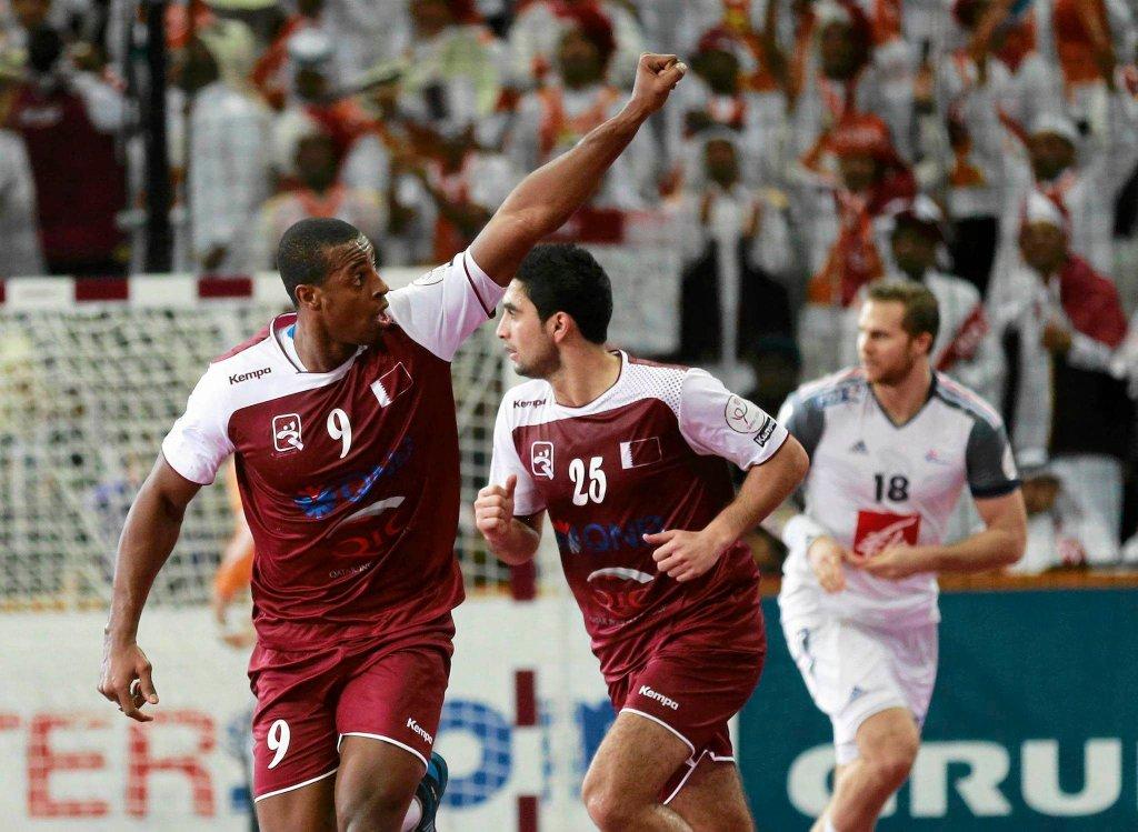 Katar - Francja. Rafael Capote (z lewej)