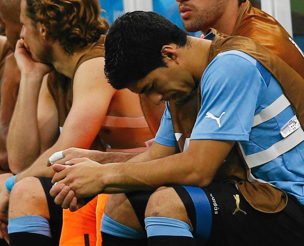 Luis Suarez załamany wynikiem meczu z Kostaryką