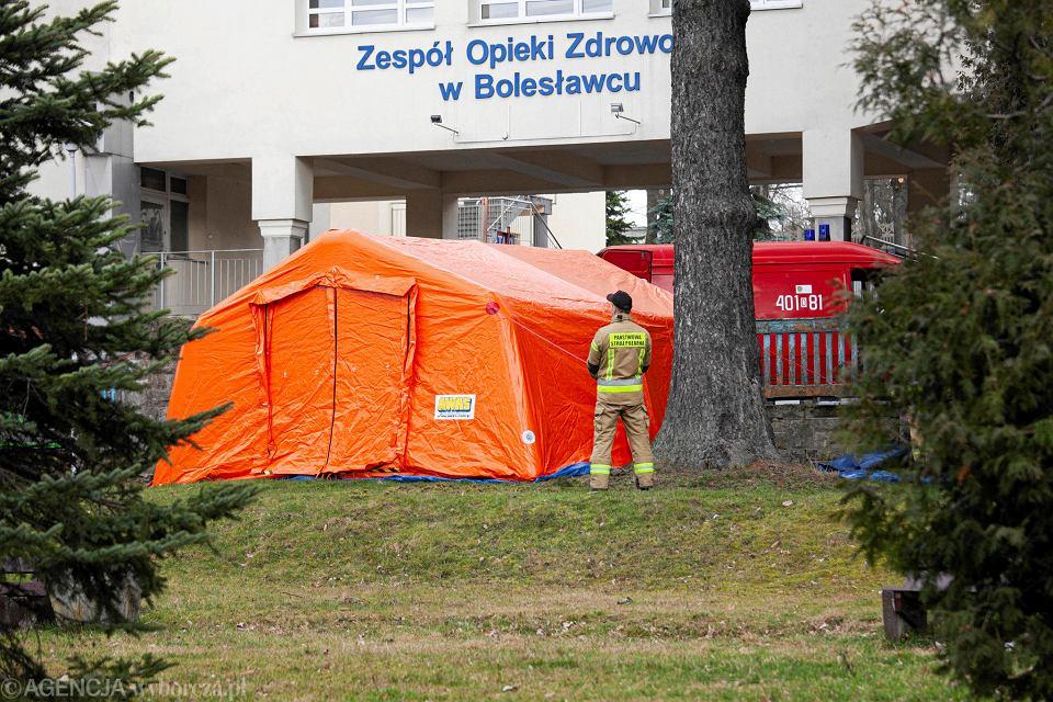 Koronawirus. Szpital zakaźny w Bolesławcu