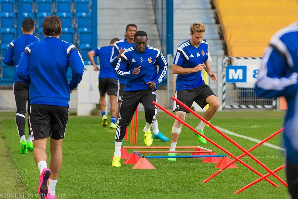 Trening FC Basel przed meczem z Lechem Poznań w eliminacjach do Ligi Mistrzów