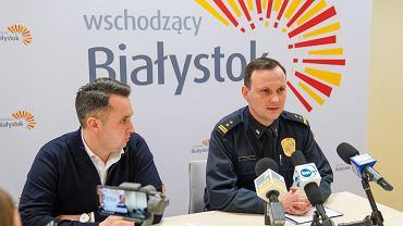 Białystok. Konferencja prasowa w urzędzie miejskim w związku z pandemią koronawirusa