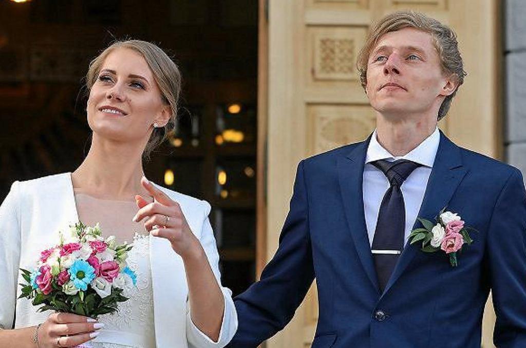 Dawid Kubacki z żoną