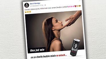Kampania promocyjna energetyka Devil Energy spotkała się z ostrą krytyką