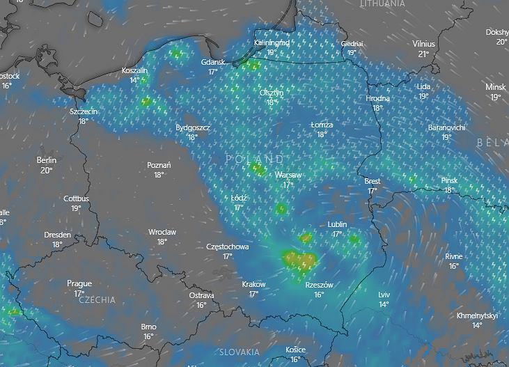 IMGW ostrzega przed burzami i gradem