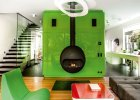 Wnętrza:  zielony dom na warszawskim Żoliborzu