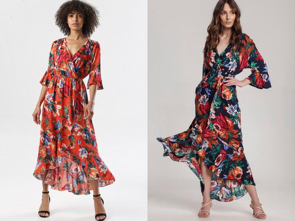 sukienki kopertowe na lato