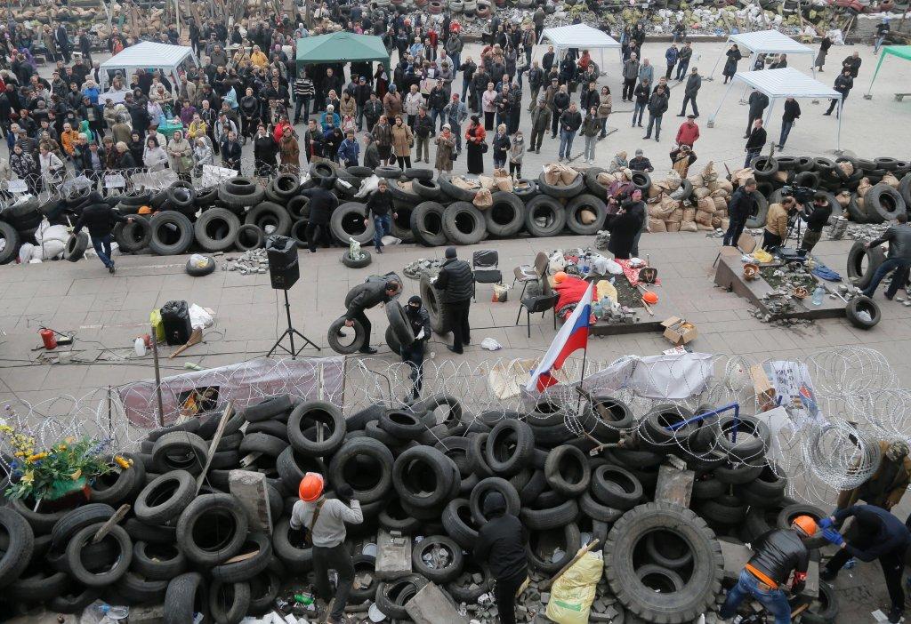 Barykady w Doniecku