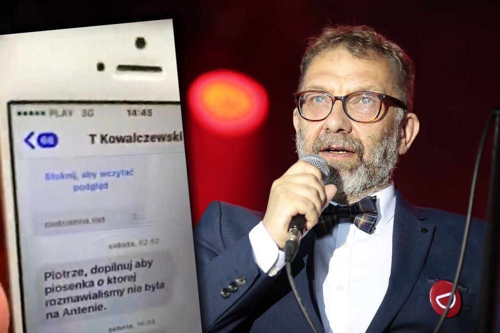 SMS wysłany do Piotra Metza przez dyrektora Trójki