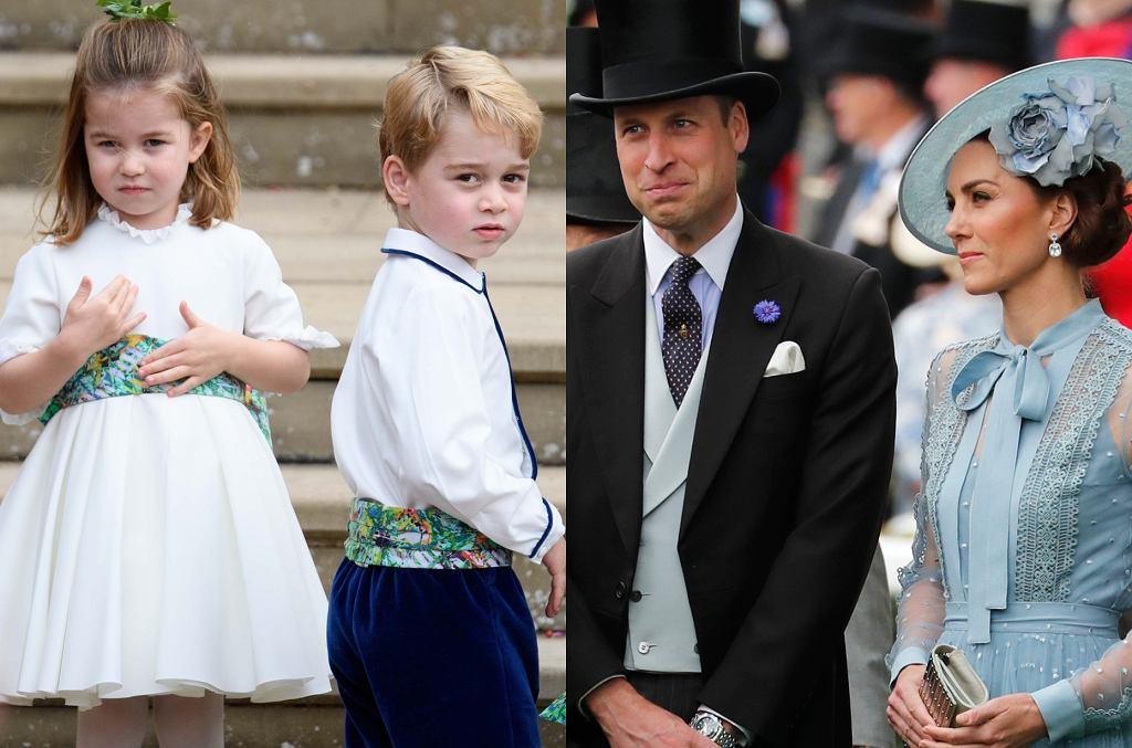 Księżna Kate, książę William, George, Charlotte