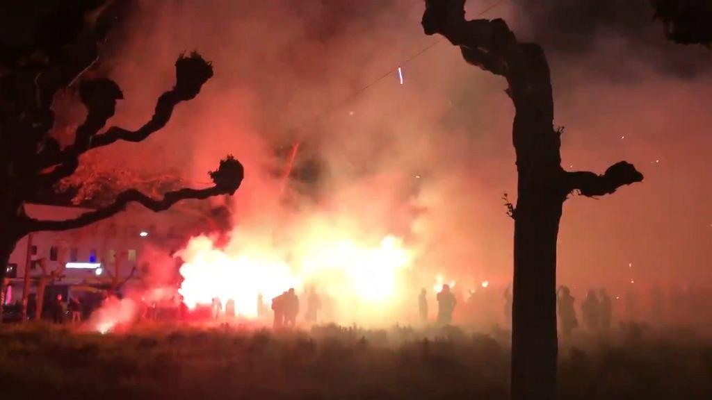 Kibice Borussii Dortmund świętują zdobycie Pucharu Niemiec
