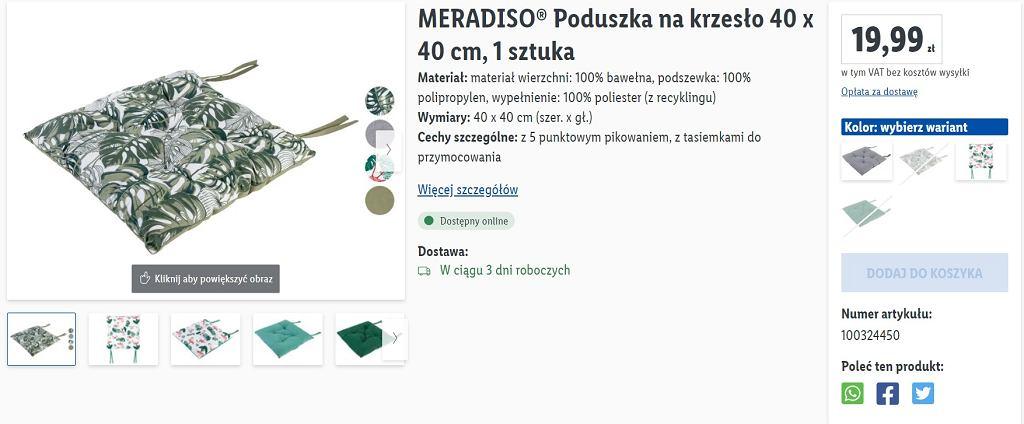 Poduszka Lidl