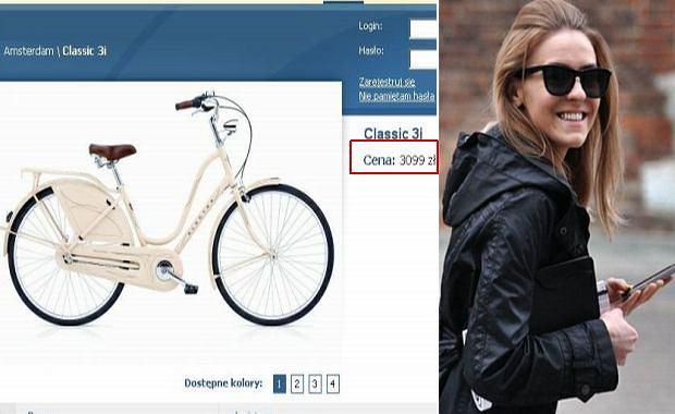 Kasia Tusk ma rower za 3000 złotych.