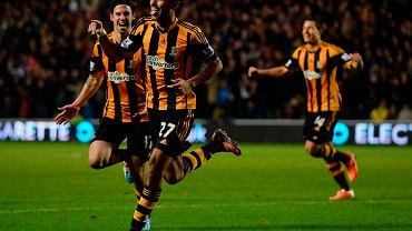 Radość graczy Hull po golu Ahmeda Elmohamady'ego