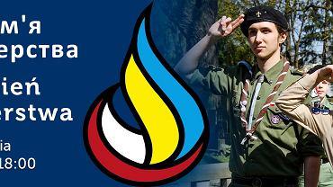Baner akcji ZHP i ukraińskich skautów