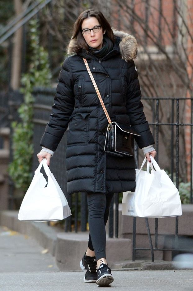 Liv Tyler out for a walk in the West Village neighborhood of Manhattan.  Pictured: Liv Tyler
