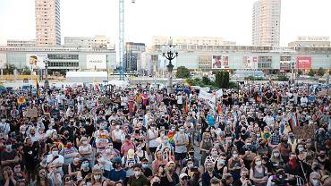 Protest solidarnościowy w Warszawie  z zatrzymaną i aresztowaną aktywistką LGBT Margot