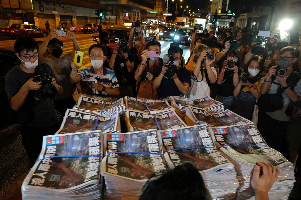 Ostatnie prodemokratyczna gazeta w Hongkongu została zamknięta. 'Apple Daily' krytykowała Chińskie władze