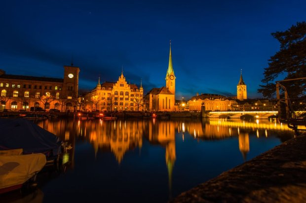 Zurych nocą/ Fot. Shutterstock