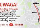 11 listopada. Święto Niepodległości w Warszawie. Trasy marszów i utrudnienia w komunikacji