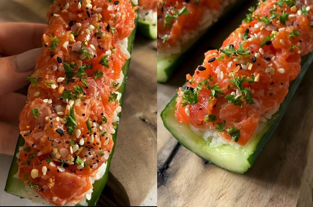 Lubicie sushi, ale robienie to udręka? Wykorzystajcie trik z internetu i zróbcie je w ogórku [PRZEPIS]