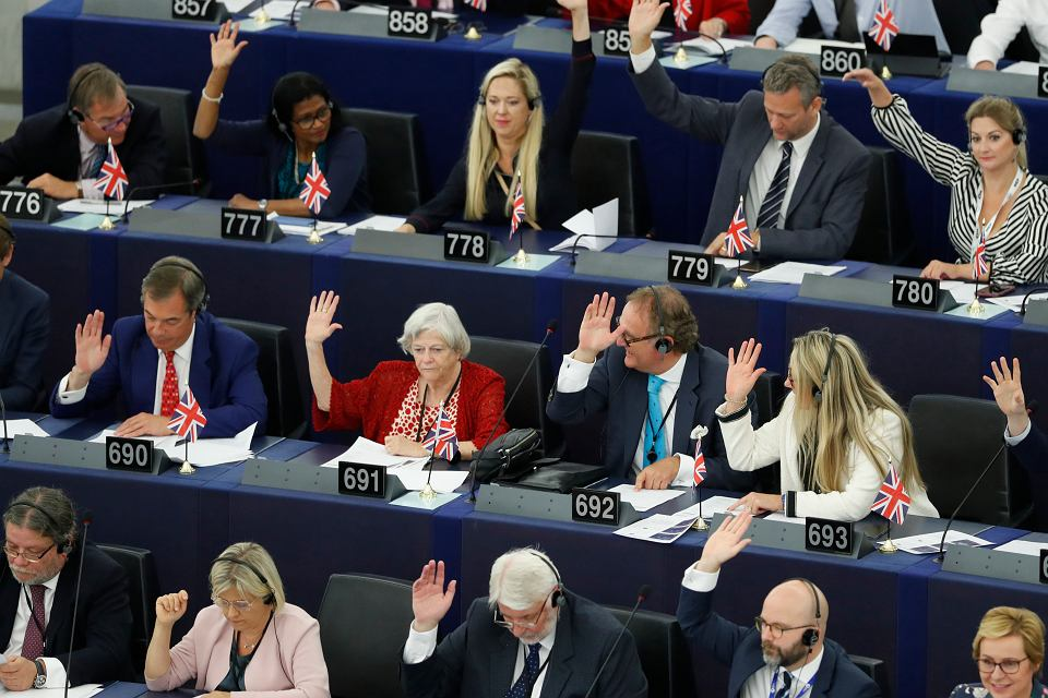 Zgoda Parlamentu Europejskiego jest nieodzowna dla zatwierdzenia umowy o wyjściu Wlk. Brytanii z UE. Na zdjęciu: debata w Strasburgu, 18 września 2019