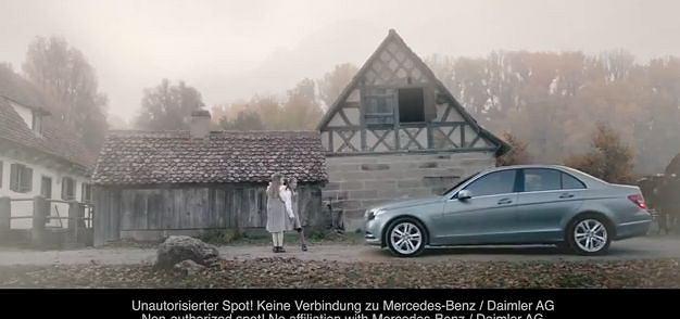 Nieautoryzowana reklama Mercedesa