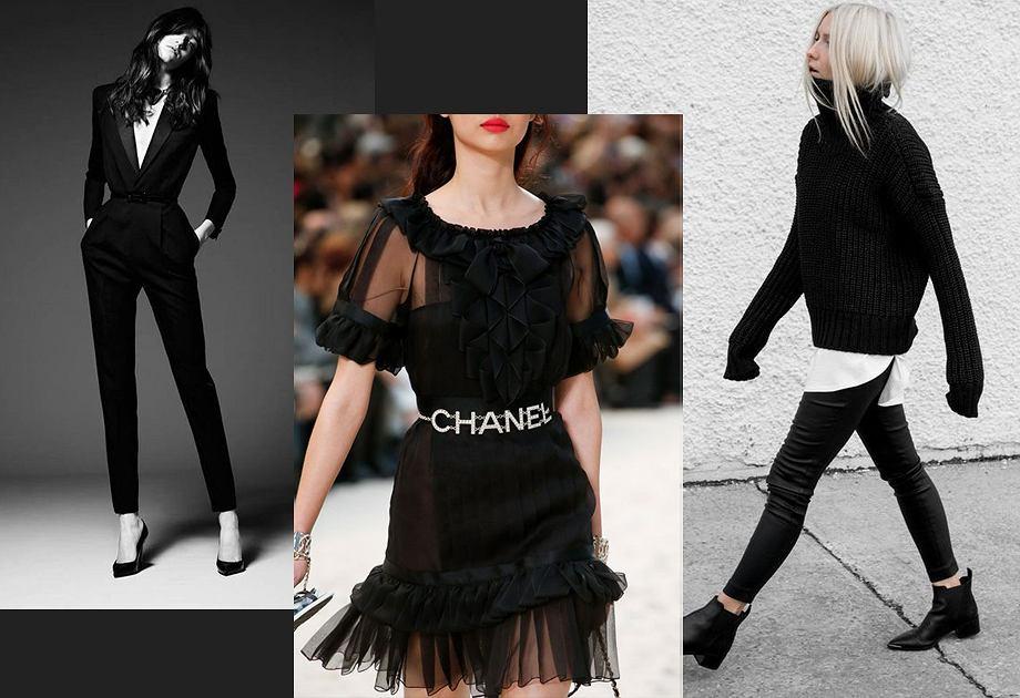 Czarny to ulubiony kolor Coco Chanel, ale też Yves Saint Laurenta i Rei Kawakubo