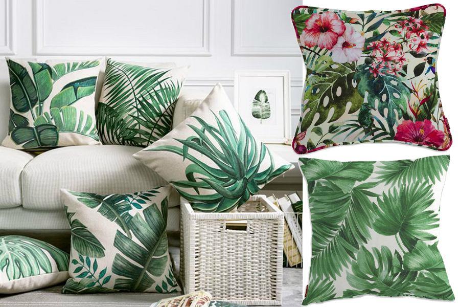poduszki w motywy roślinne
