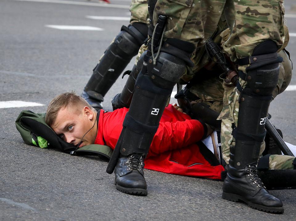 Protesty w Mińsku białoruskim, 13 września 2020.
