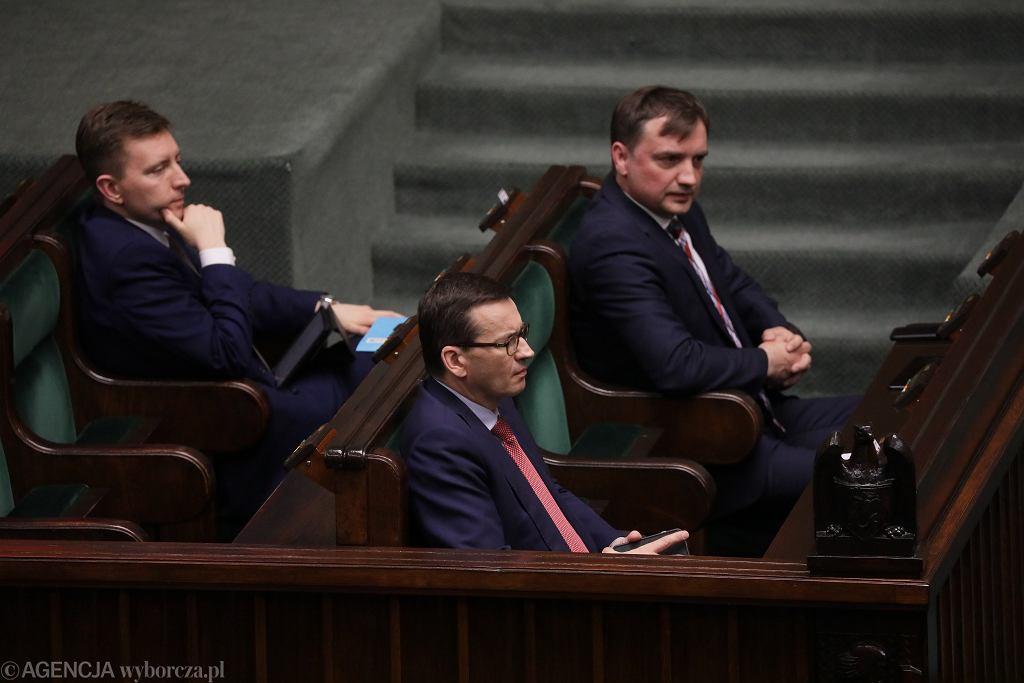 Mateusz Morawiecki i Zbigniew Ziobro w Sejmie