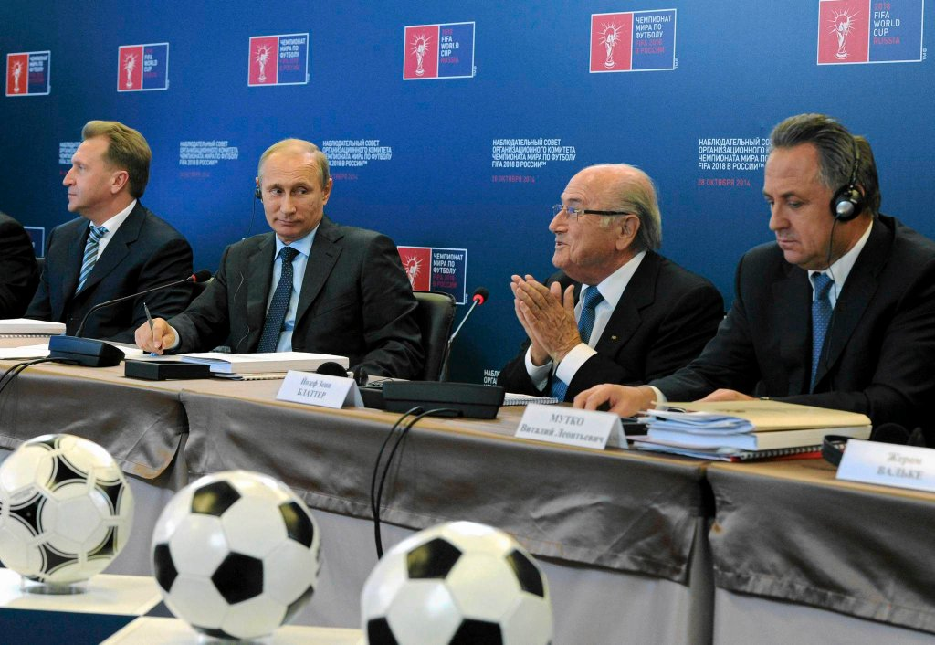 Władimir Putin i Sepp Blatter
